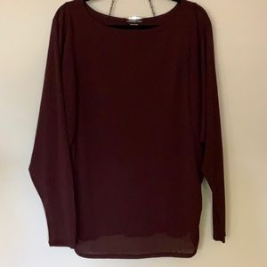 Coldwater Creek dolman top, ruched sides